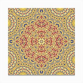 Abstract Mandala II Canvas Print