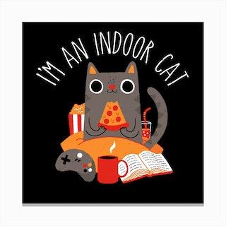 Indoor Cat Canvas Print
