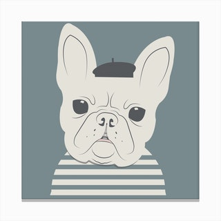Frenchie Square Canvas Print