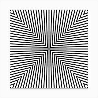 Converge Black Square Canvas Print
