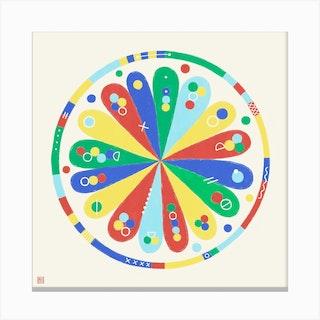 Meditative Flower Mandala Canvas Print