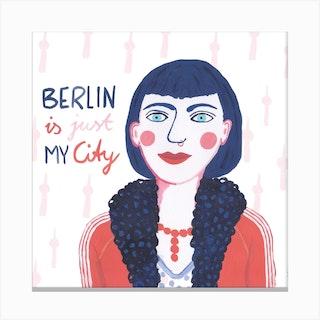 Berlin Girl Square Canvas Print