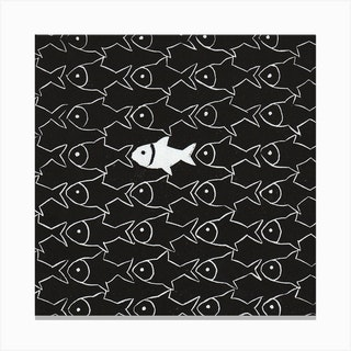 Dare To Be Different Square Canvas Print