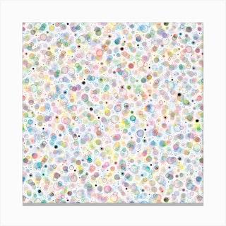 Cosmic Bubbles Multicolored Square Canvas Print