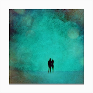 Together Forever Square Canvas Print