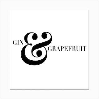 Gin And Grapefruit Screwdriver Cocktail Recipe Square Canvas Print