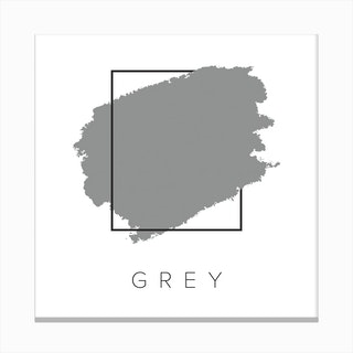 Grey Color Box Canvas Print