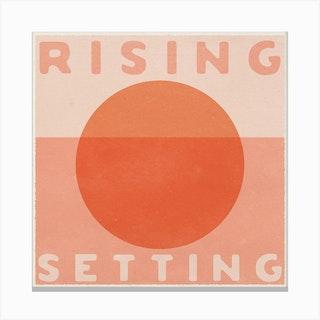 Rising Setting Square Canvas Print