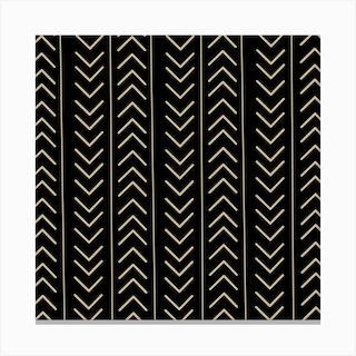 Mudcloth Black Canvas Print
