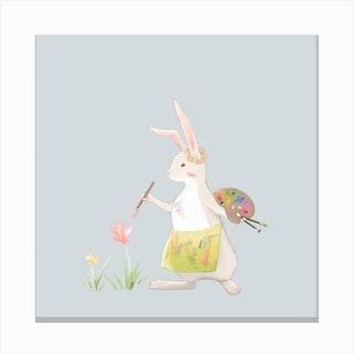 Pink Rabbit Canvas Print