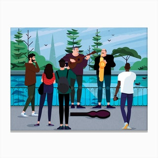 Buskers Canvas Print