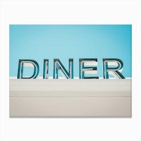 Retro Diner Sign Photo Canvas Print