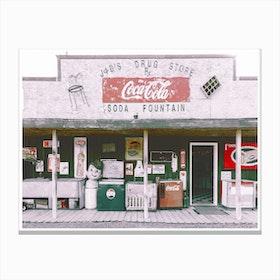 Vintage America Coca Cola Shop Canvas Print