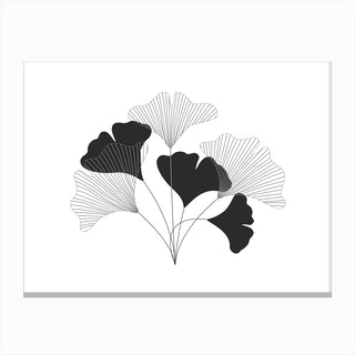 Simple Drawing Flowers Canvas Print