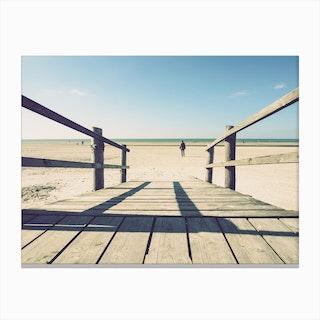 Walking On The Beach_2 Canvas Print