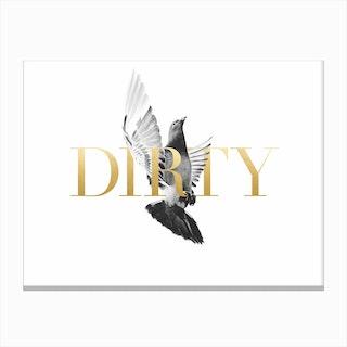 Dirty Birdy Canvas Print