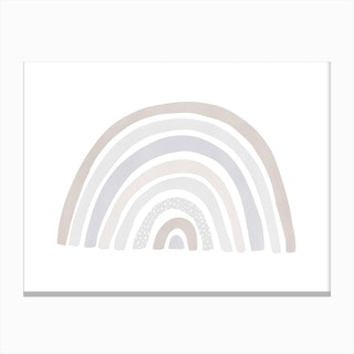 Scandi Nursery Rainbow  Pastel Colours Canvas Print