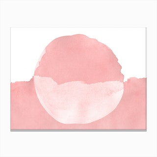 Minimal Pink Abstract 08 Canvas Print
