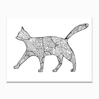 Pattern of Cat Canvas Print