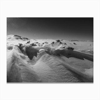 Snow Desert Canvas Print