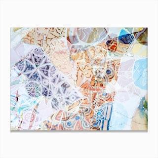 Mosaic of Barcelona IX Canvas Print
