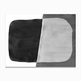 Minimal Black And White Abstract 06 Canvas Print