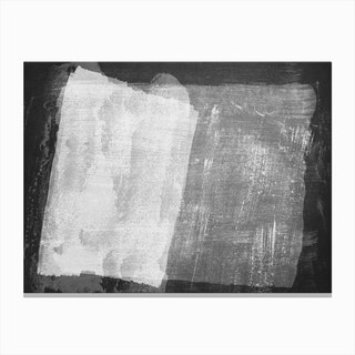 Minimal Abstract Black And White Painting 8 Canvas Print