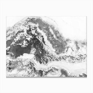 Black and White Marble Mountain II Canvas Print