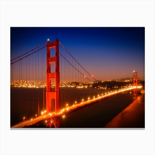 Evening Impression of Golden Gate Bridge Canvas Print
