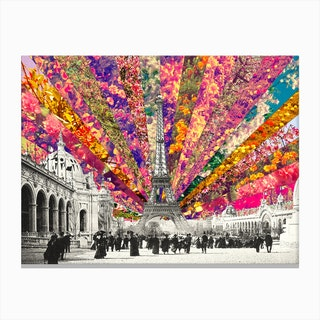 Vintage Paris - horiz in Canvas Print