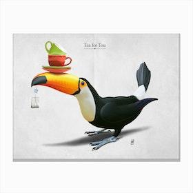 Tea for Tou Canvas Print
