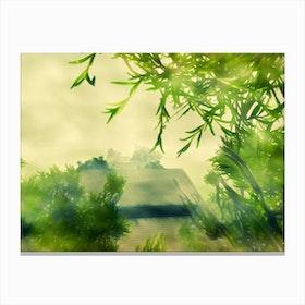 Greeting Dawn Canvas Print