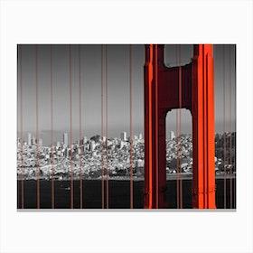 Golden Gate Bridge in Detail Canvas Print