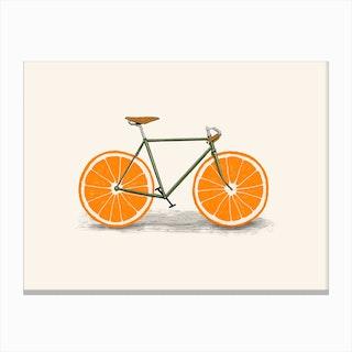 Orange Wheels Canvas Print