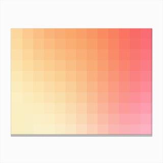 Lumen 03, Pink and Orange Gradient Canvas Print