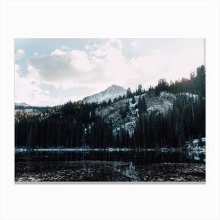 Mountains And Snow Canvas Print