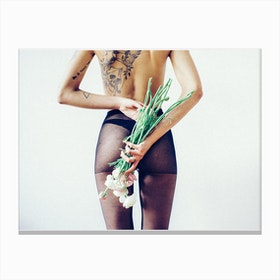 Flowers and Tights 1 Canvas Print