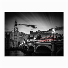 London Westminster Bridge At Sunset Canvas Print