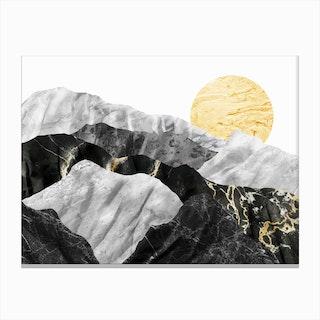 Marble Landscape IV Canvas Print