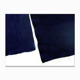 Minimal Navy Blue Abstract 01 Canvas Print