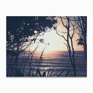 Sunset And Beach_6 Canvas Print