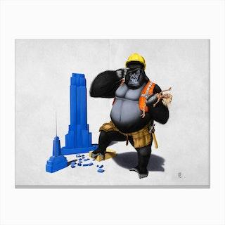 Building An Empire (Wordless) Canvas Print