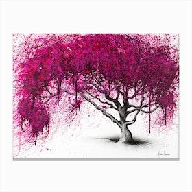 Pink Plum Park Canvas Print