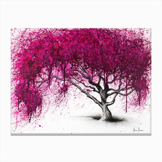 Pink Plum Park Canvas Print