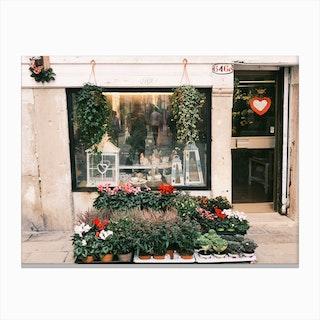 Venice Flower Shop Canvas Print