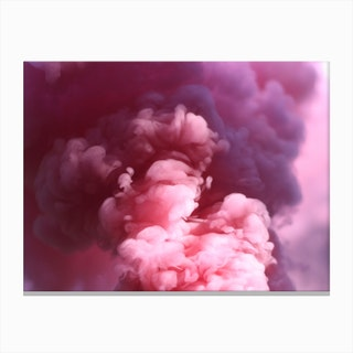 Pink Smoke Canvas Print