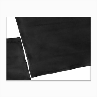 Minimal Black And White Abstract 03 Canvas Print