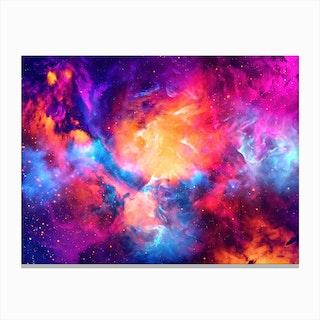 Artistic Xc Colorful Nebula Canvas Print