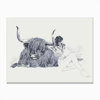 A Wandering Bull A Taurus Study Canvas Print