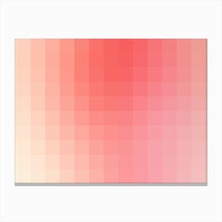 Lumen 09, Pink and White Gradient Canvas Print